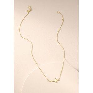 Stella & Dot NEW w/BOX Interlock Cross Necklace